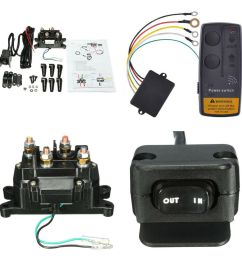 details about wireless car atv winch remote control relay contactor rocker thumb switch kits [ 1000 x 1000 Pixel ]