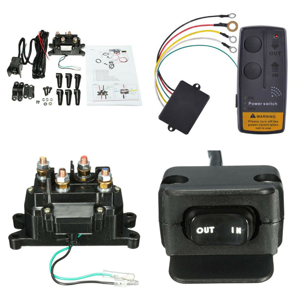hight resolution of details about wireless car atv winch remote control relay contactor rocker thumb switch kits