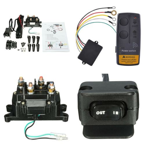 small resolution of details about wireless car atv winch remote control relay contactor rocker thumb switch kits