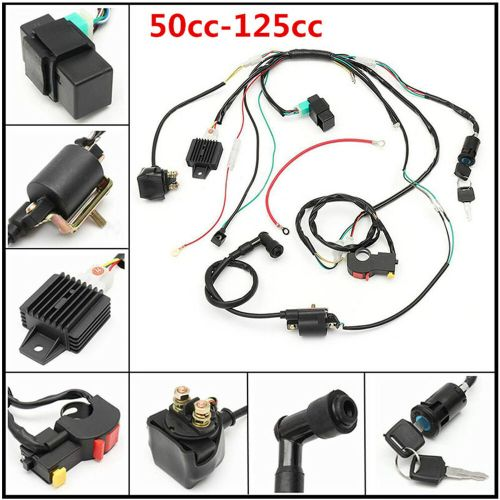 small resolution of new 50cc 125cc cdi pit wire harness stator assembly wiring atv electric quad kit 6414937736699