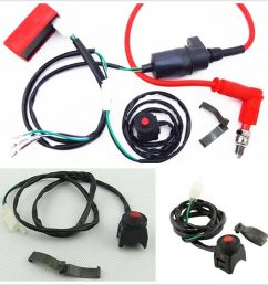 details about motorcycle atv professional wiring harness kill switch ignition coil cdi set kit [ 900 x 900 Pixel ]