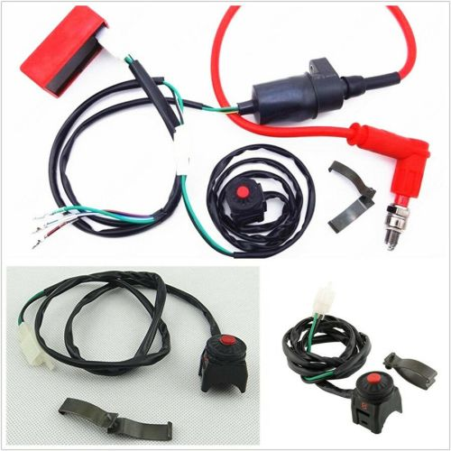 small resolution of details about motorcycle atv professional wiring harness kill switch ignition coil cdi set kit