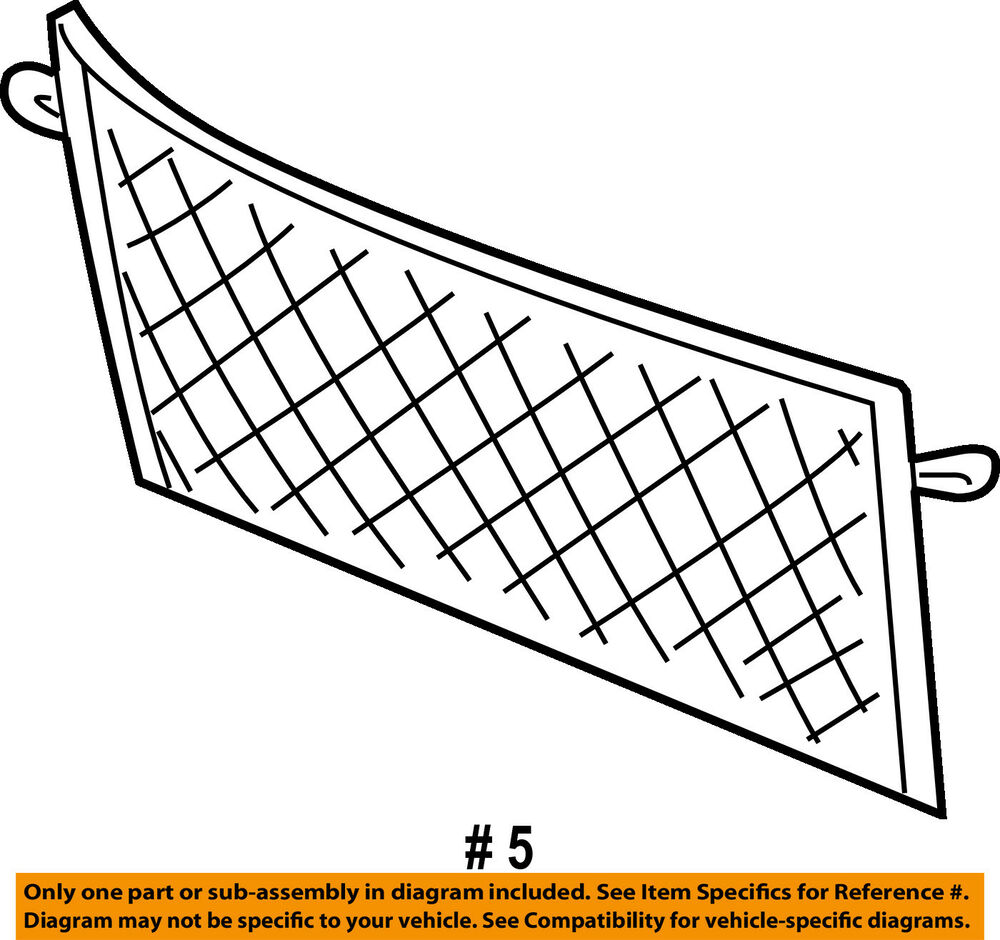 hight resolution of details about ford oem 04 07 freestar liftgate tailgate cargo net 4f2z1655066aa