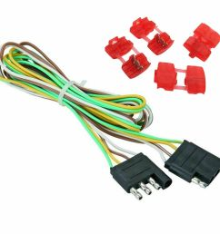 48 trailer light wire 4 way flat extension wiring harness plug cord 4 way flat wiring harness [ 1000 x 999 Pixel ]