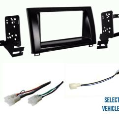details about double din car stereo radio dash wire kit combo for some 2014 2018 toyota tundra [ 1000 x 865 Pixel ]