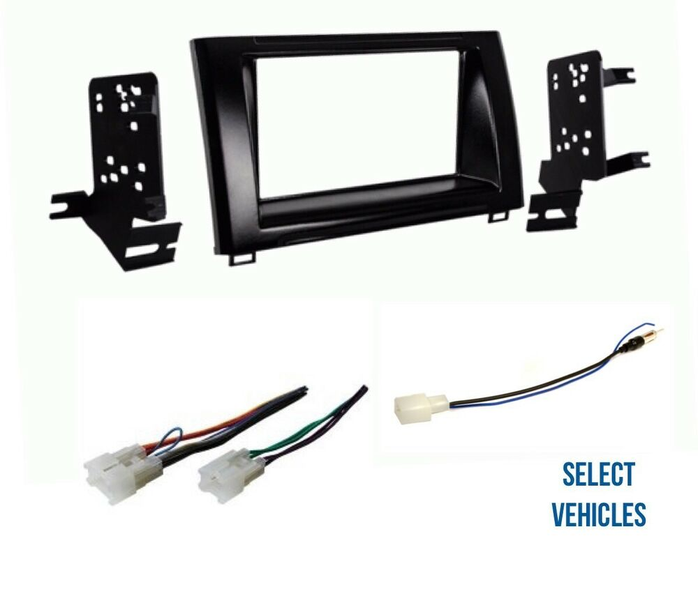 hight resolution of details about double din car stereo radio dash wire kit combo for some 2014 2018 toyota tundra