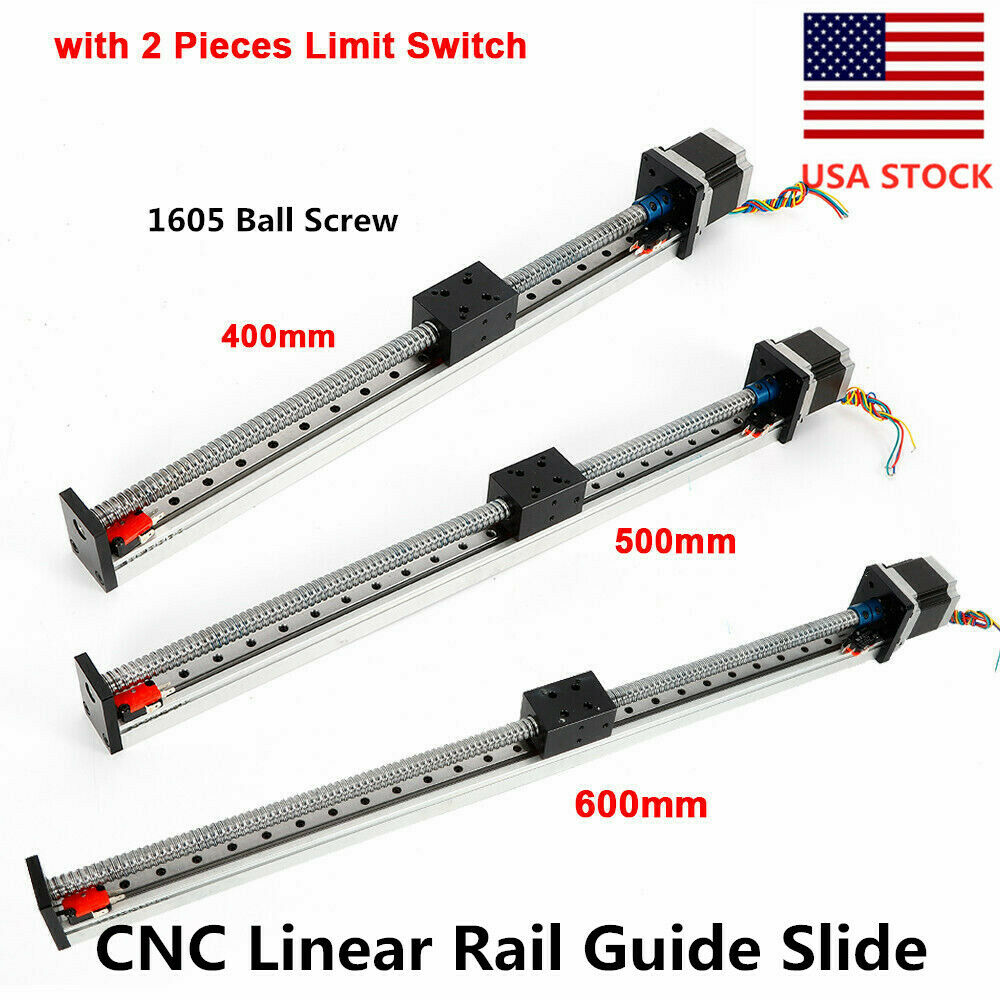 NEW CNC Linear Rail Guide Slide Stage Actuator Ball Screw