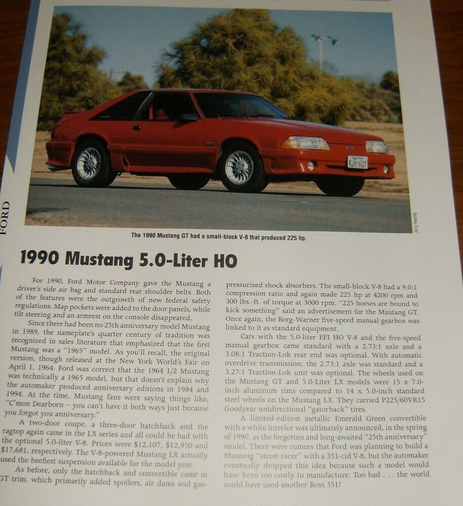 medium resolution of details about 1990 mustang gt specs info photo 90 87 93 gt lx 5 0 302