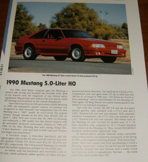 small resolution of details about 1990 mustang gt specs info photo 90 87 93 gt lx 5 0 302