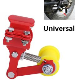 details about portable adjuster atv motorcycle chain tensioner bolt on roller tool red yellow [ 1000 x 1000 Pixel ]