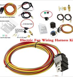 details about universal car dual electric cooling fan wiring harness kit 40a relay accessories [ 1000 x 1000 Pixel ]
