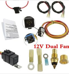 dual electric engine cooling fan wiring harness 185 165 thermostat spal electric fan wiring harness details [ 1000 x 1000 Pixel ]