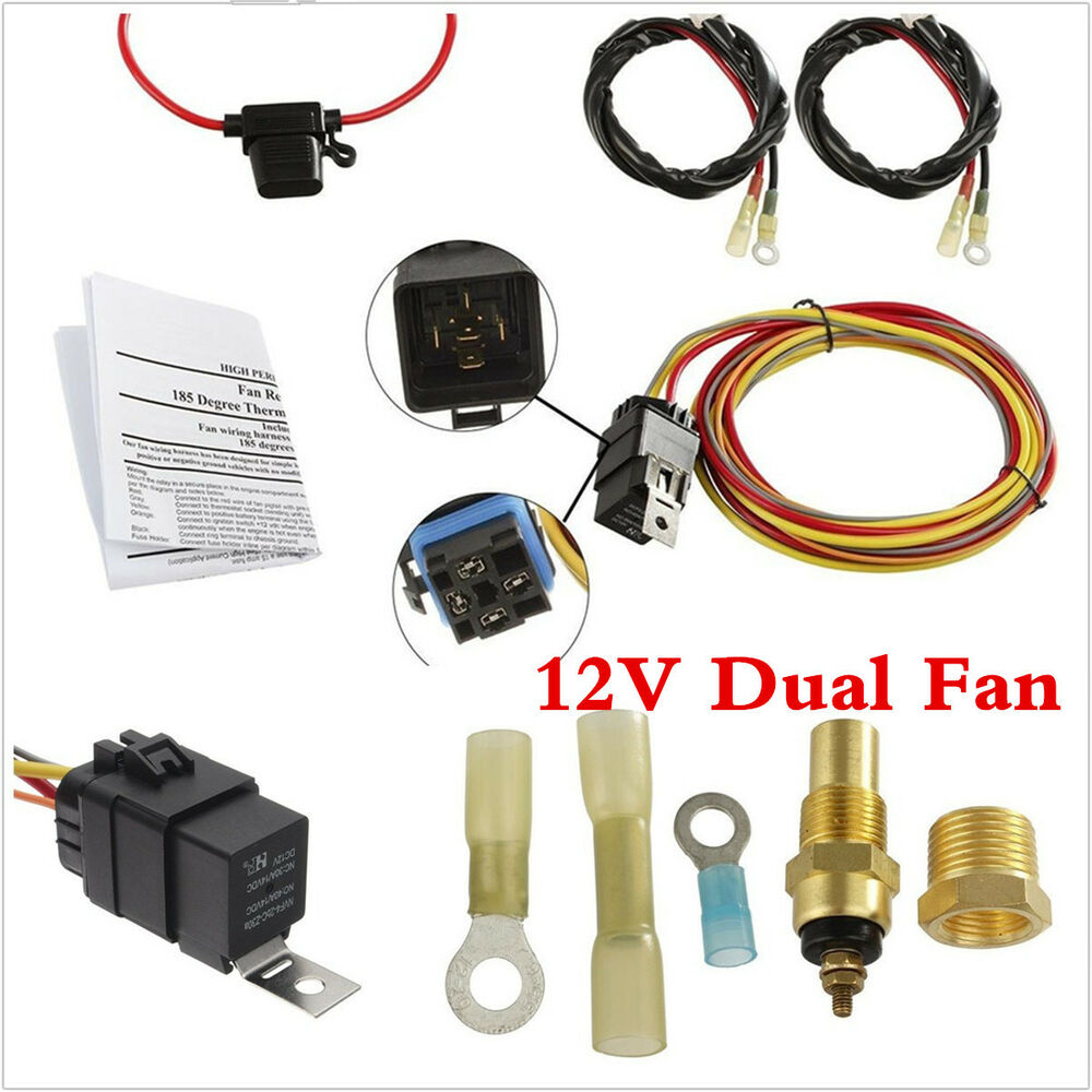 hight resolution of dual electric engine cooling fan wiring harness 185 165 thermostat spal electric fan wiring harness details
