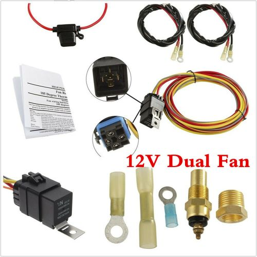 small resolution of dual electric engine cooling fan wiring harness 185 165 thermostat spal electric fan wiring harness details