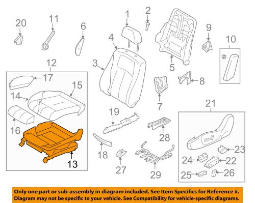 small resolution of details about infiniti nissan oem 2008 g37 driver seat seat frame 87351jl37a