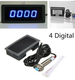 details about 4 digital blue led tachometer rpm speed meter npn hall proximity switch sensor [ 1000 x 1000 Pixel ]