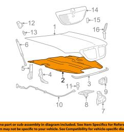 details about lincoln ford oem town car hood insulation pad liner heat shield 3w1z16738aa [ 1000 x 798 Pixel ]