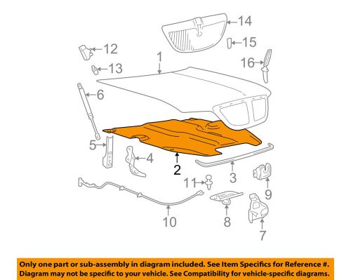 small resolution of details about lincoln ford oem town car hood insulation pad liner heat shield 3w1z16738aa