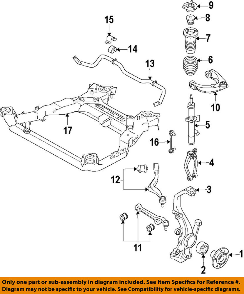 medium resolution of details about lincoln ford oem 10 12 mkz front suspension coil spring ah6z5310b