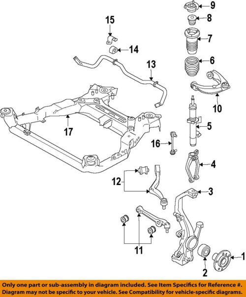 small resolution of details about lincoln ford oem 10 12 mkz front suspension coil spring ah6z5310b
