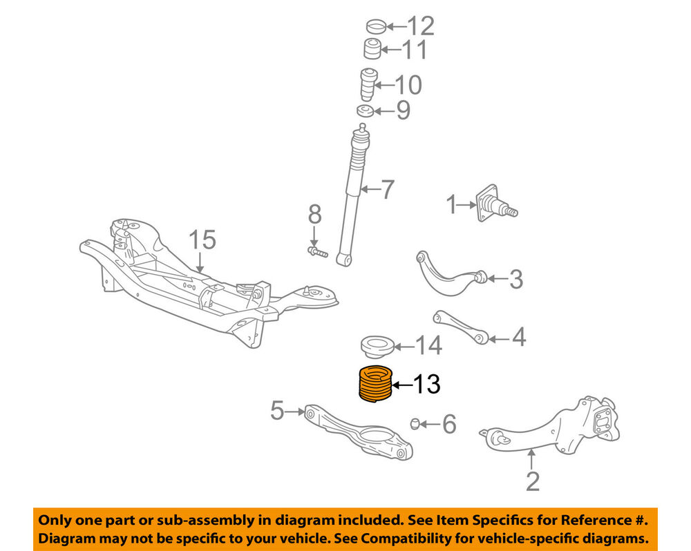 hight resolution of details about ford oem 00 04 focus rear suspension spring 3s4z5560ga