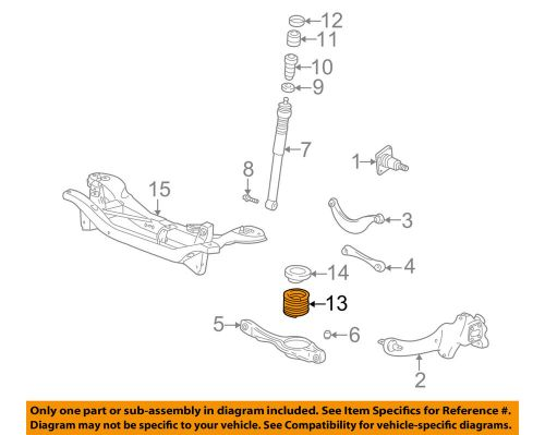 small resolution of details about ford oem 00 04 focus rear suspension spring 3s4z5560ga