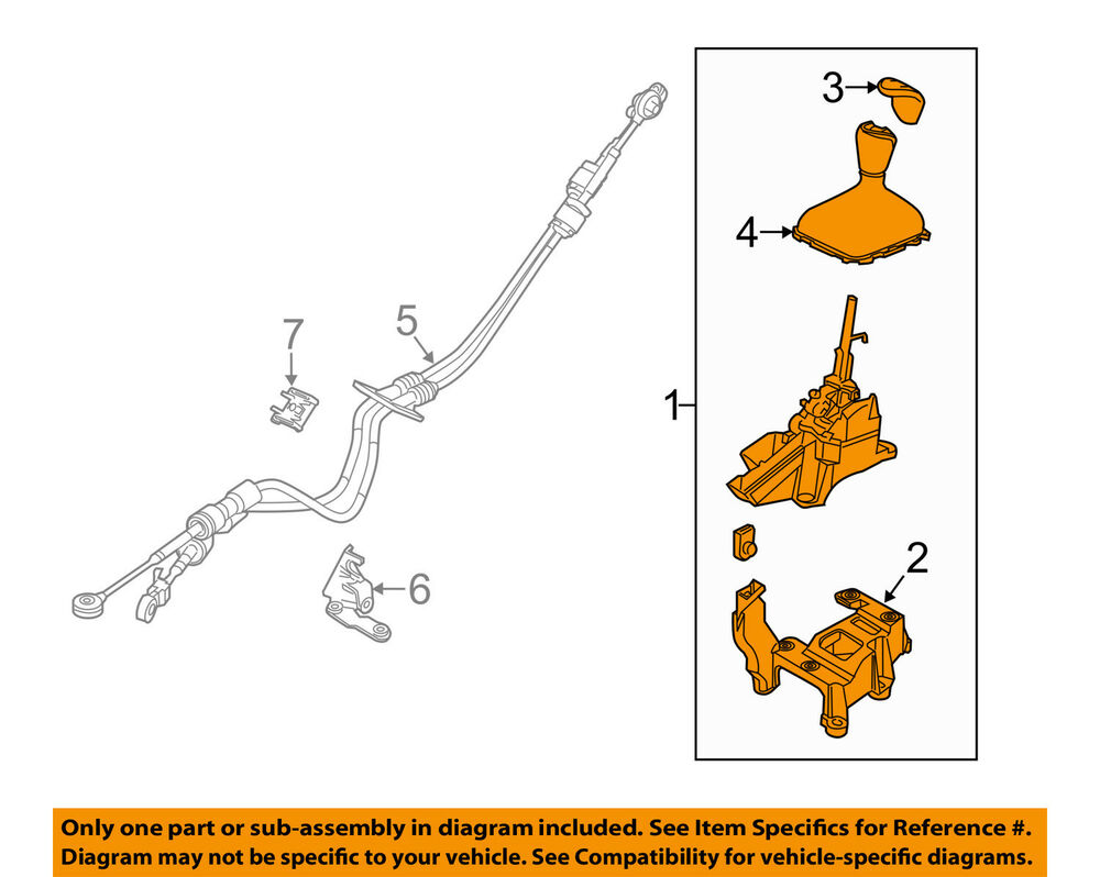 hight resolution of details about ford oem 13 14 focus transmission gear shift shifter assy dv6z7210b