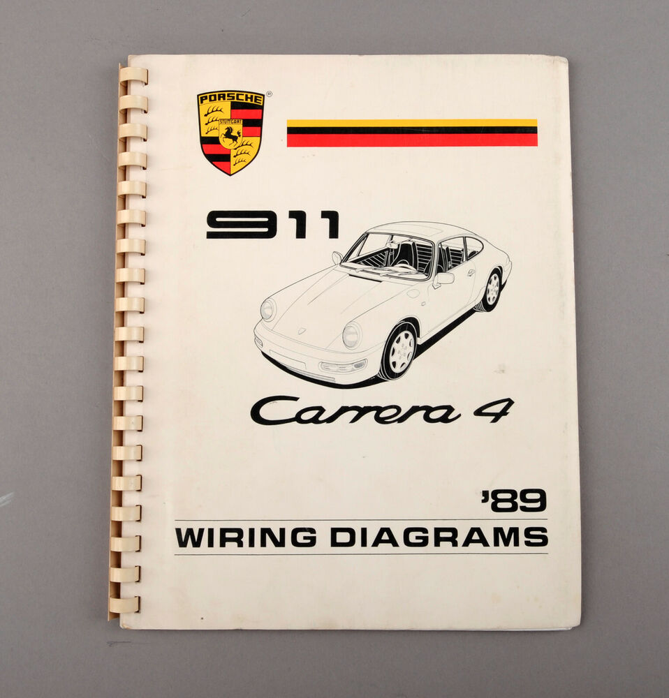 hight resolution of details about 1989 porsche 911 carrera 4 wiring diagrams shop manual