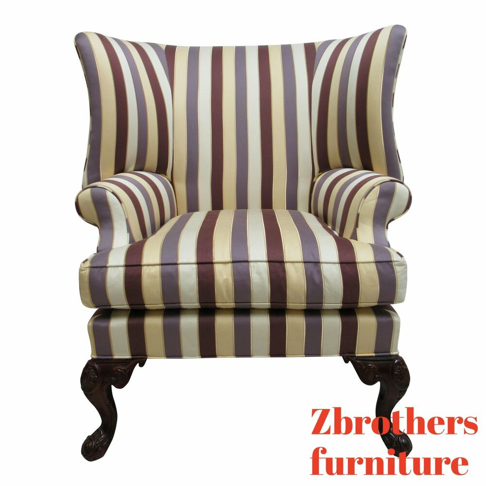 Oversized Wingback Chair Century Furniture Oversized French Lounge Living Room Wing Chair Ebay