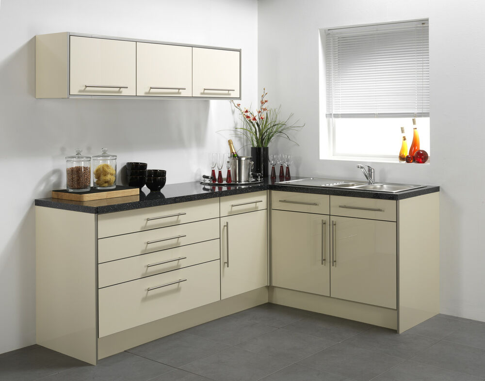kitchen cabinets ebay chromcraft chairs cream high gloss vinyl cabinet doors |