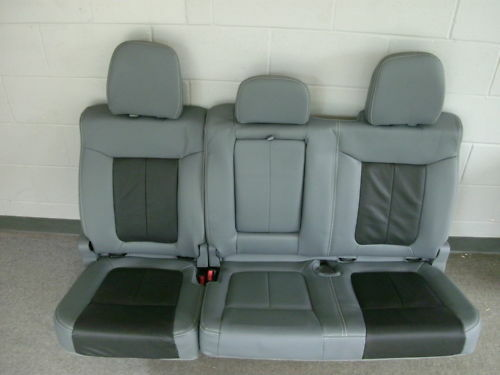 Ford F 150 Lariat Limited Gray Leather Rear Seat Ebay