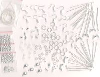 Silver~Gold Jewelry Making Craft Kit for Necklace
