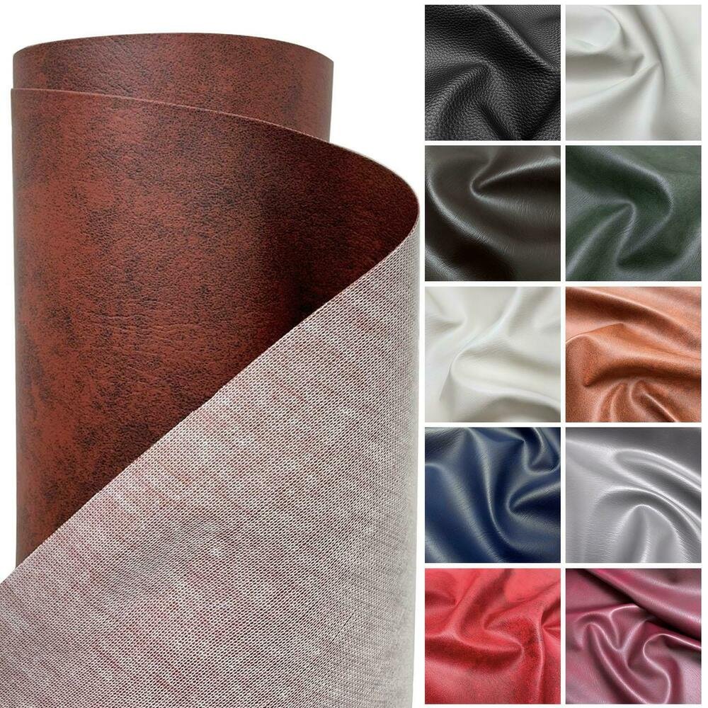 HEAVY FEEL FAUX LEATHER LEATHERETTE VINYL PVC UPHOLSTERY