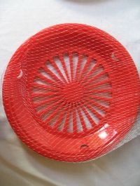 Plastic Paper Plate Holders 4 Per Package Red 3 Tab New | eBay