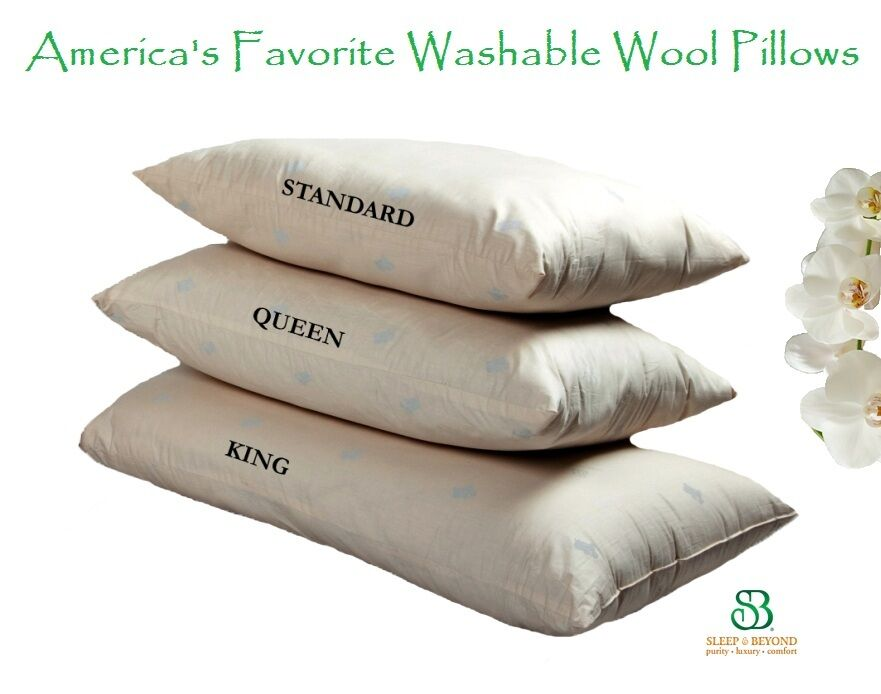 Premium Shropshire Wool Filled Washable PILLOW Down