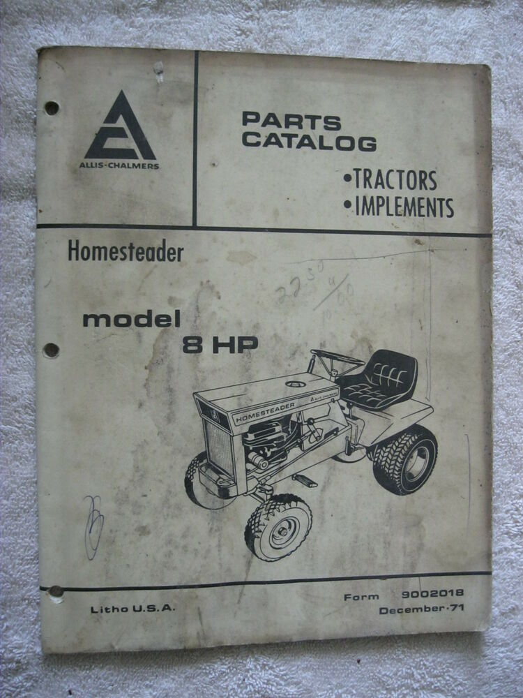 Ac Allis Chalmers Homesteader 8 Hp Lawn Tractor Mower