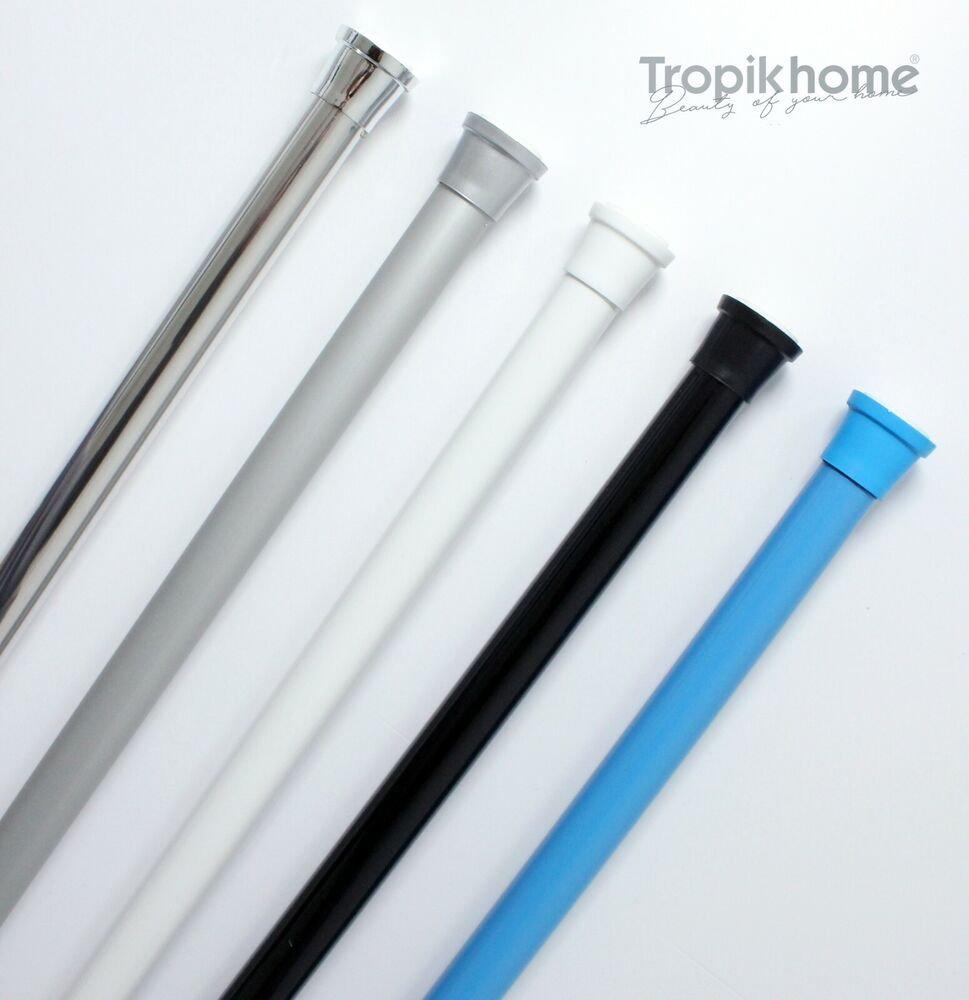 Quality Extendable Spring Shower Curtain Rod Rail Different Sizes And Colours EBay