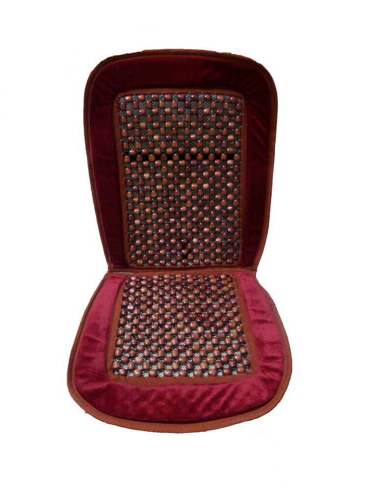 Natural Wood Bead Seat Cover Seat Cushion Cool Massage Car