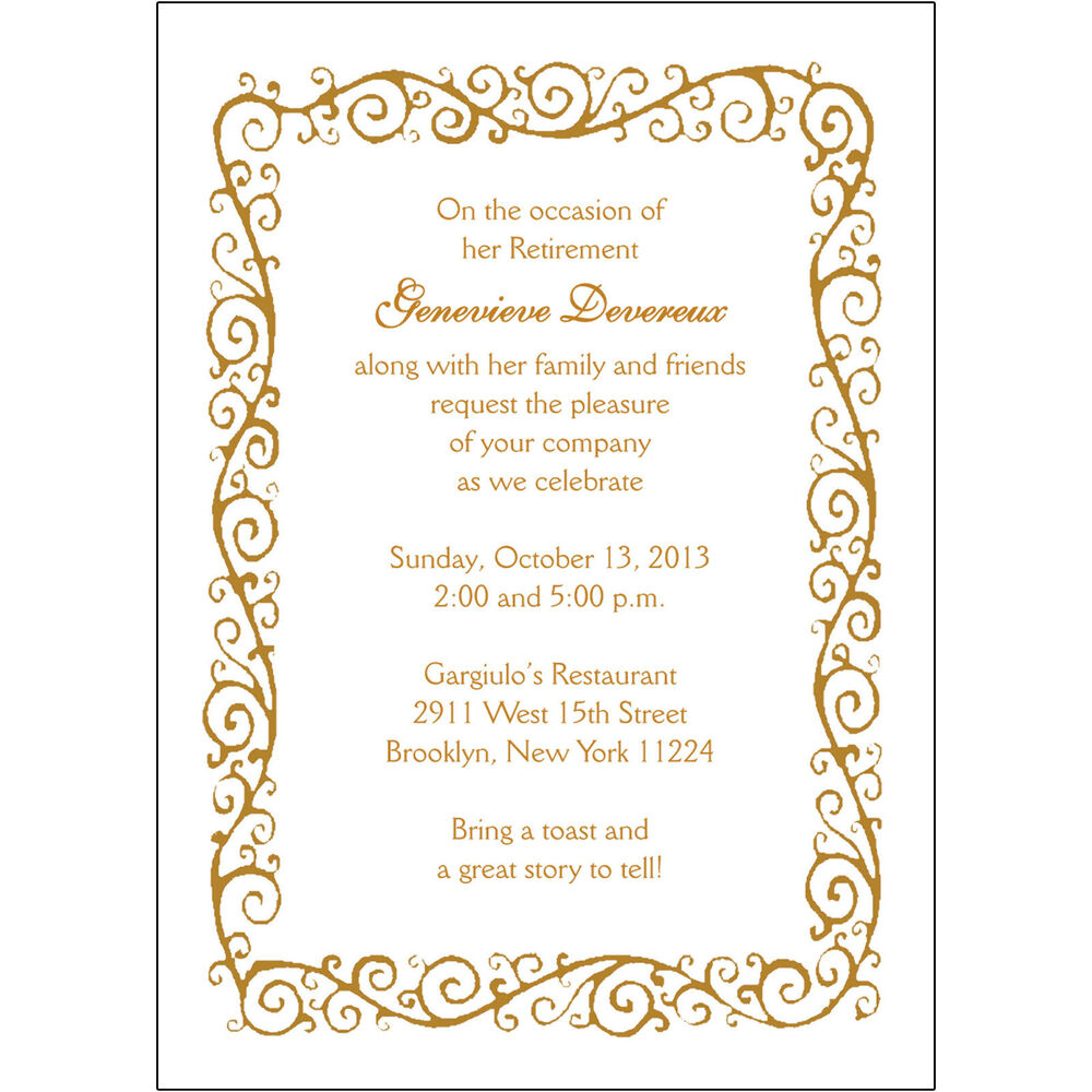 25 Personalized Retirement Party Invitations RPIT 04