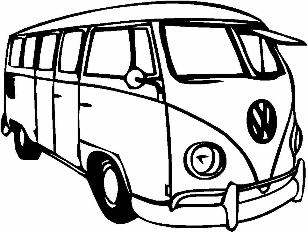 VW Splitty Camper Van Gloss Vinyl Car Sticker Auto Decal