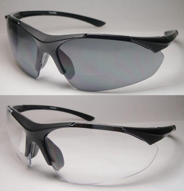 Bifocal Reading Safety Sun Glasses Clear - 382bf-1.00 1.50 2.00 2.50 3.00
