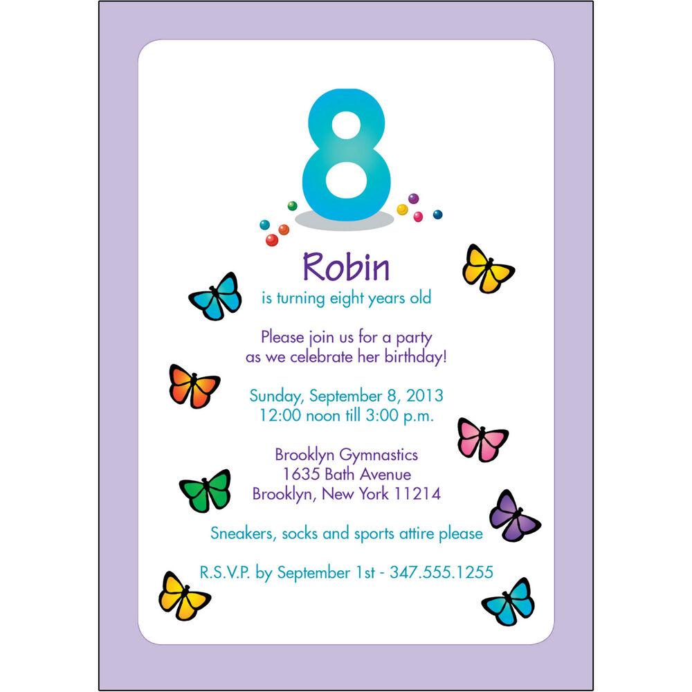 25 Personalized Childrens Birthday Party Invitations 8