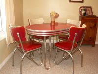 Retro kitchen table and chair set~dinette ~ dining ...