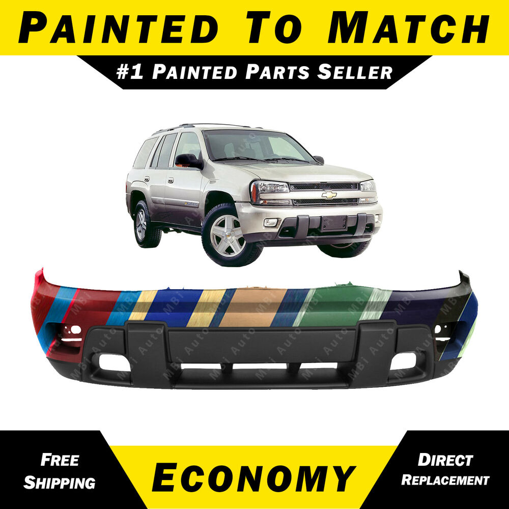 hight resolution of details about new painted to match front bumper cover replacement 2002 2008 chevy trailblazer