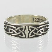 Celtic Ring Sterling Silver Band Irish Knot Wedding