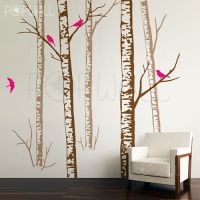 Realistic Birch Forest Tree Wall Decal Wall Sticker Trees ...
