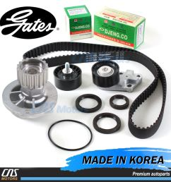details about gates htd timing belt kit water pump for 2004 2008 chevrolet aveo 1 6l dohc [ 1000 x 1000 Pixel ]