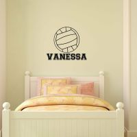 Personalized Name & Volleyball Vinyl Wall Decal Sticker ...