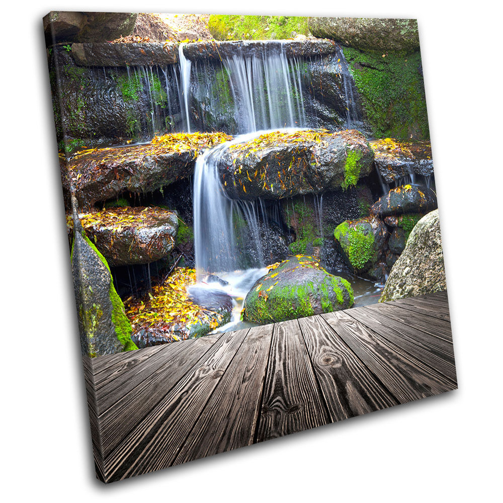 large canvas art for living room interior paint color ideas waterfall landscapes single wall picture print ...