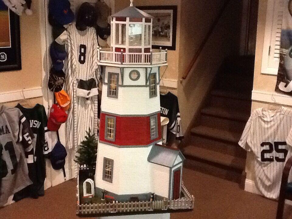 Hand Built Wooden LIGHTHOUSE 112 New England STLYE REAL GOOD TOY Light Wood EBay
